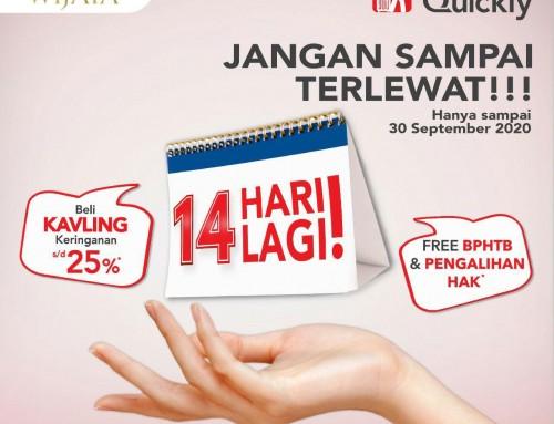 Move In Quickly Kavling Banjar Wijaya Periode 2 Akan Berakhir Sebentar Lagi